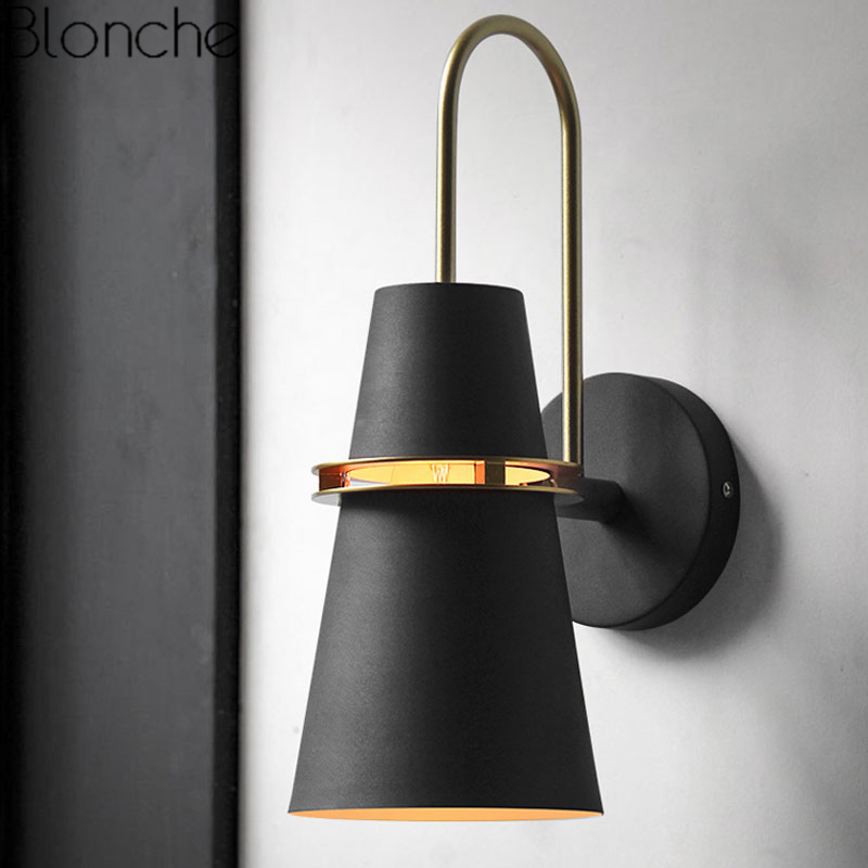 Nordic Iron Wall Lamps Mirror Light Modern Wall Sconce Lighting Fixtures for Bedroom Bedside Loft Industrial