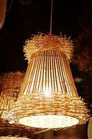 White rattan features Pendant Lights modern pastoral creative personality rattan lamp Southeast Asian rattan LU811241