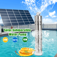 DC24V 5000L/H Submersible Solar Water Pump Stainless Steel Centrifugal Water Pump for Irrigation Outdoor Garden Fountain