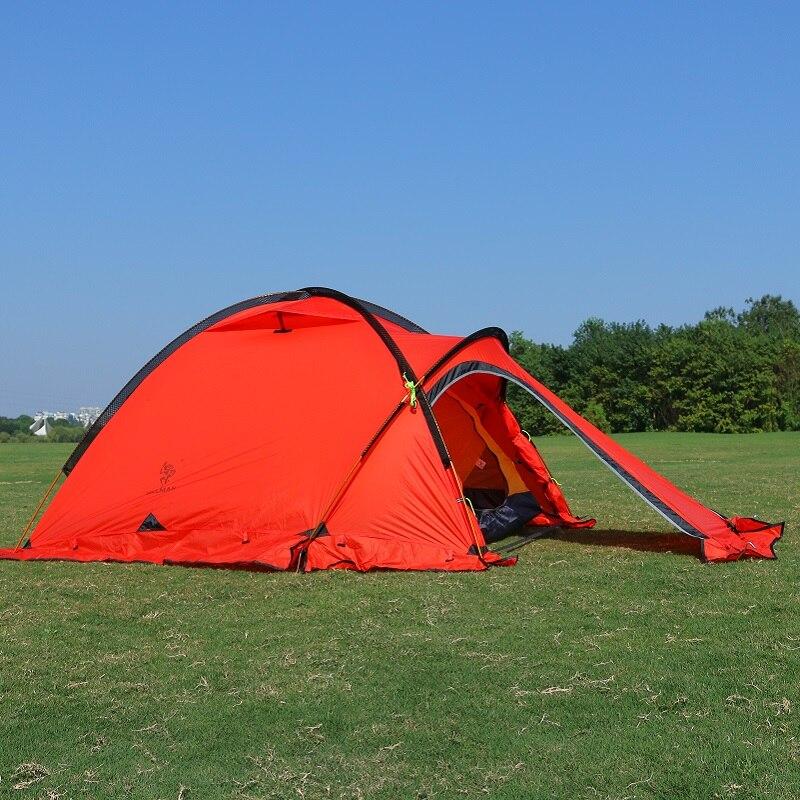 Tente professionnelle 2 personnes ultra-léger quatre saisons enduit de silicium résistant aux fortes pluies tentes de camping de montagne