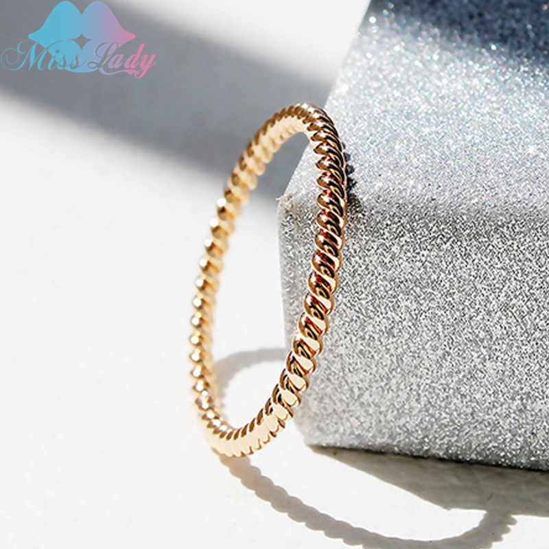 2017 New Customized Simple Round Rings Silver color Gold Mix Brand Rope Style Rings W HG1012