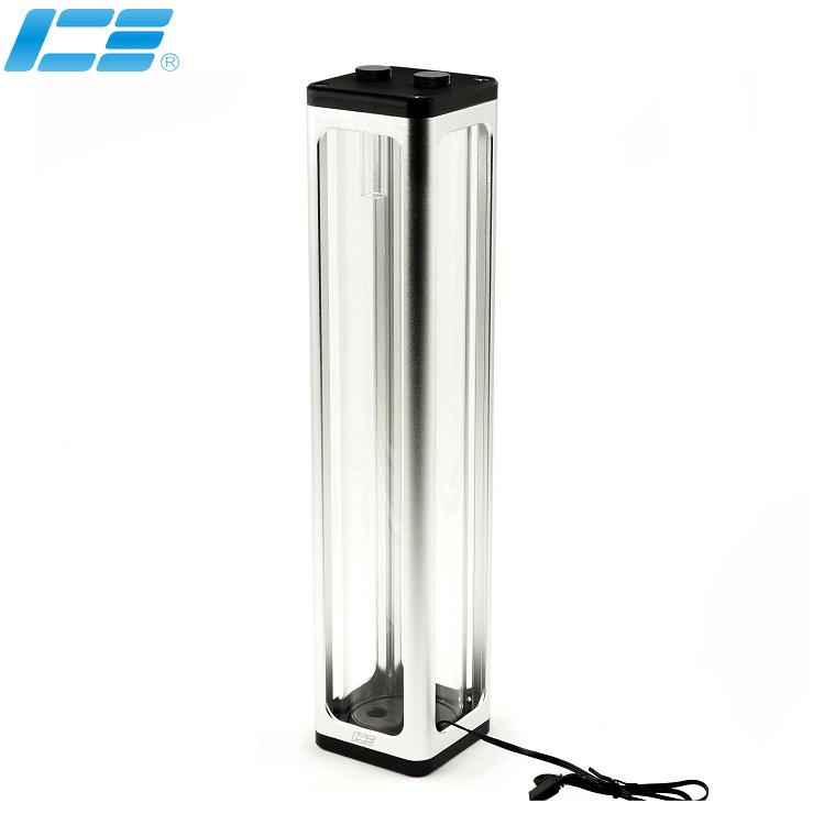 NEW ARRIVAL IceManCooler Water Cooling tank ,Silver ,Black reservoir ,360mm , with RGB Effect,Cooled container ICE-RX7