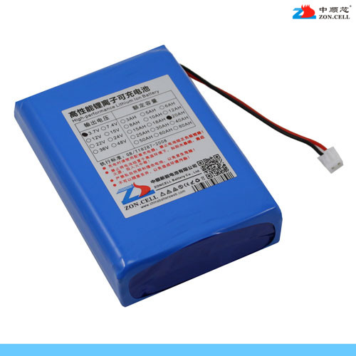 In large capacity 20AH 3.7VLED lamp xenon lamp mobile power polymer lithium battery 20000 Ma Li-ion Cell brown 3 7v lithium polymer battery 7565121 charging treasure mobile power charging core 8000 ma rechargeable li ion cell