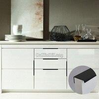 HOT 40PCS Modern Style Kitchen Door Furniture Handles Cupboard Drawer Wardrobe Cabinet Invisible Hidden Pulls Handles