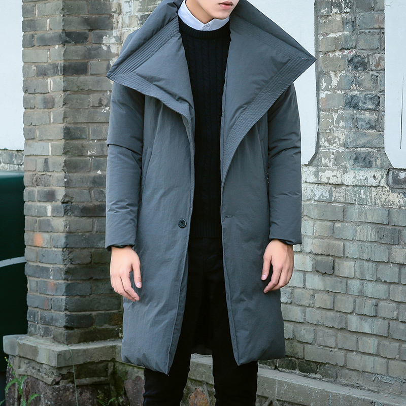 Thin long down jacket male code plus fertilizer plus fat youth and the wind winter coat jacket slim