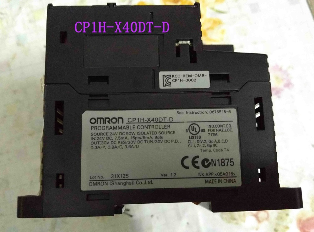 Used Original CP1H-X40DT-D CP1H PLC Controller CPU for Omron Sysmac 40 I/O Transistor 24V Encoder Pulse Counter dhl ems mini sp10 dt a sp10 dt a 1pcs used for om ron sysmac plc module free shipping d1