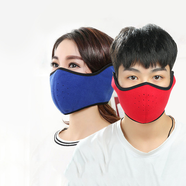 Cycling Masks Ear Protect Warm Fleece winter woman Bike Mask Cover Half Face Ski Sports Outdoor Winter Neck Guard Warm Mask