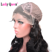 130 Density Body Wave Lace Front Wigs With Baby Hair Lucky Queen Hair Products Brazilian Non