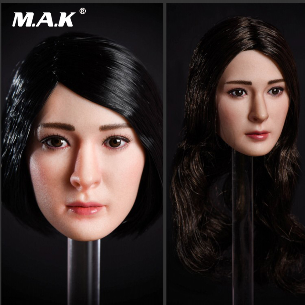 1/6 OT001 Custom Yang Mi Head Carved Asia Girl Head Model with Long/Short Hair for 1:6 Scale Action Figure PH VC Body1/6 OT001 Custom Yang Mi Head Carved Asia Girl Head Model with Long/Short Hair for 1:6 Scale Action Figure PH VC Body