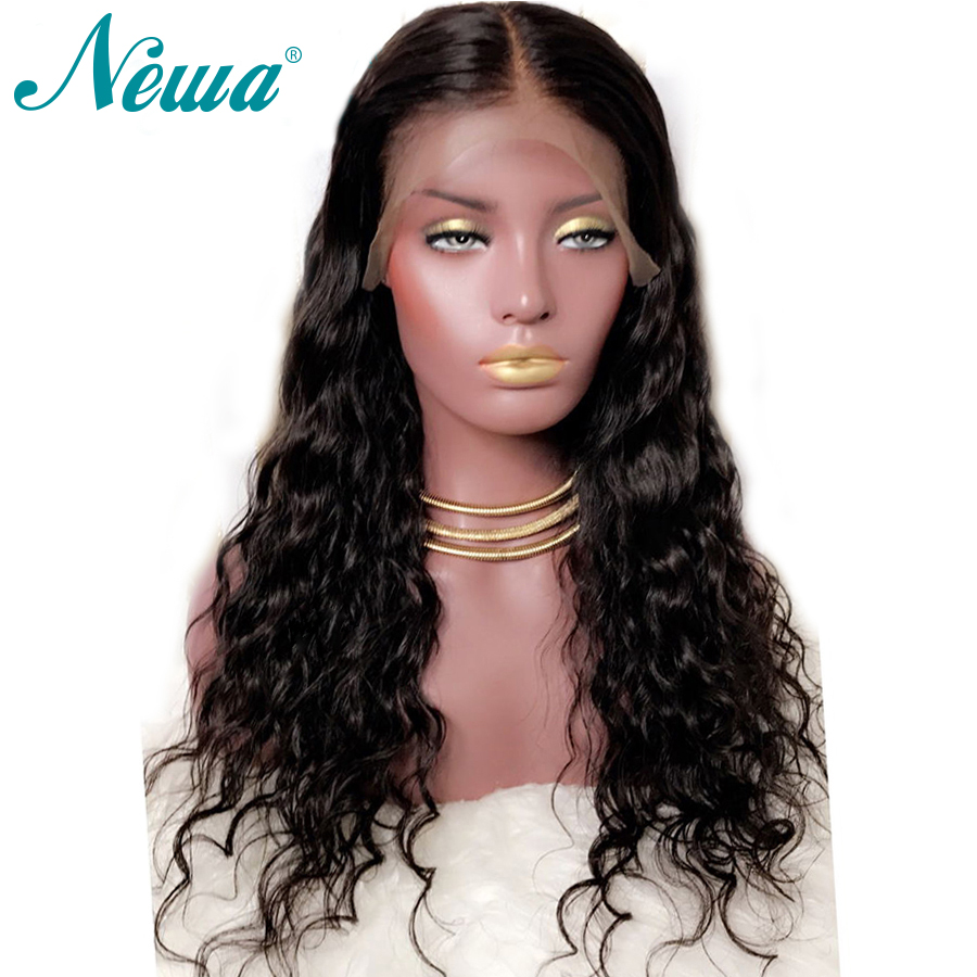 NYUWA Natural Wave Lace Front Human Hair Wigs Pre Plucked Lace Front Wig With Baby Hair