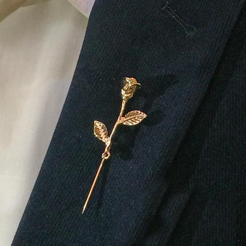 Aliexpress Buy Unisex Rose Flower Brooch Pin Men