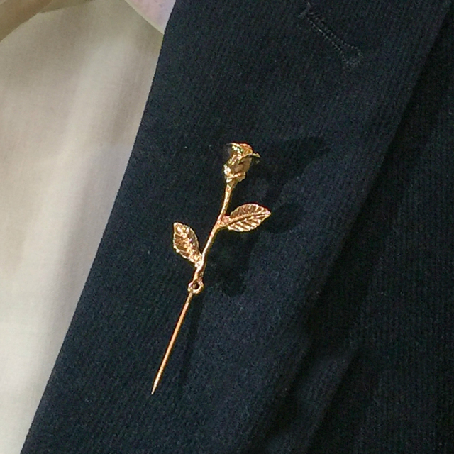 Uni Rose Flower Brooch Pin Men Suit Accessories Clic Lapel Pins For S Wedding Party