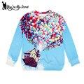 [Você é Meu Segredo] Chegada Nova Casa de Sonho de Voar Pullovers Hoodies Das Mulheres de alta qualidade de Impressão 3D Camisolas estrela Moleton