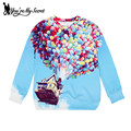 [You're My Secret]New Arrival Women Hoodies high quality 3D  Print Dream Fly House Pullovers Sweatshirts star Moleton