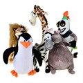 BOHS Madagascar Plush Penguin Animals Toys,Lion Alex Zebra Marty Giraffe Melman Hippopotamus Gloria Pelucia Brinquedo Juguete