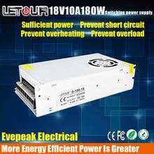 18V 10A DC Power Supply Motor Adapter AC110V-220V Transformer 18V 180W LED Driver AC-DC Switching Power Supply CE FCC Cert
