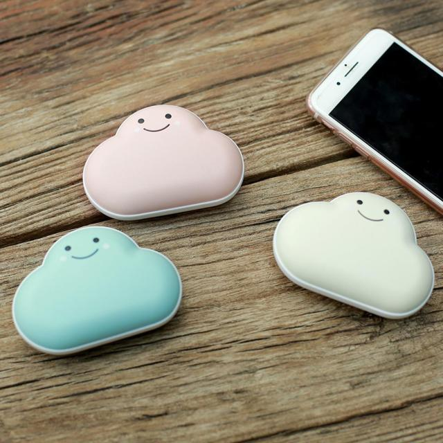 Mini Portable Cloud Shaped Hand Warmer and Power Bank