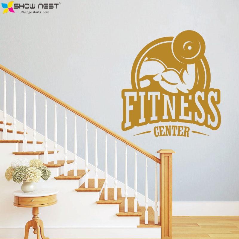 Aliexpress.com : Buy 2016 HOT Fitness Center Wall Vinyl ...