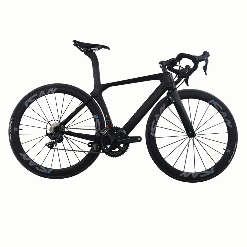 ICAN AERO Design big size Carbon Road Bike Completo con particolare TRP set V-brake Ultegra 22 gruppo a Velocità OEM disponibile