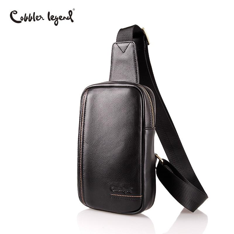 Cobbler Legend 2019 Genuine Leather Messenger Bag Men Shoulder Crossbody Bag Pack Casual Travel Business Small Designer Male