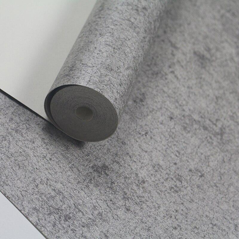 Papier peint concret de couleur solide classique de décor à la maison de papiers peints de ciment de cru pour des murs papier peint de vinyle Contact rouleau gris de papier peint