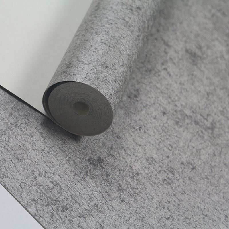 Vintage Cement Wall Papers Home Decor Classic Solid Color Concrete Wallpaper For Walls  Vinyl Paper Contact Grey Wallpaper Roll