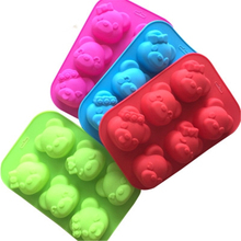 Silicone Mold 6 Expression Bear DIY Cake Soap Jelly High Quality Handmade 3D Baking Tool Kitchen Accessories