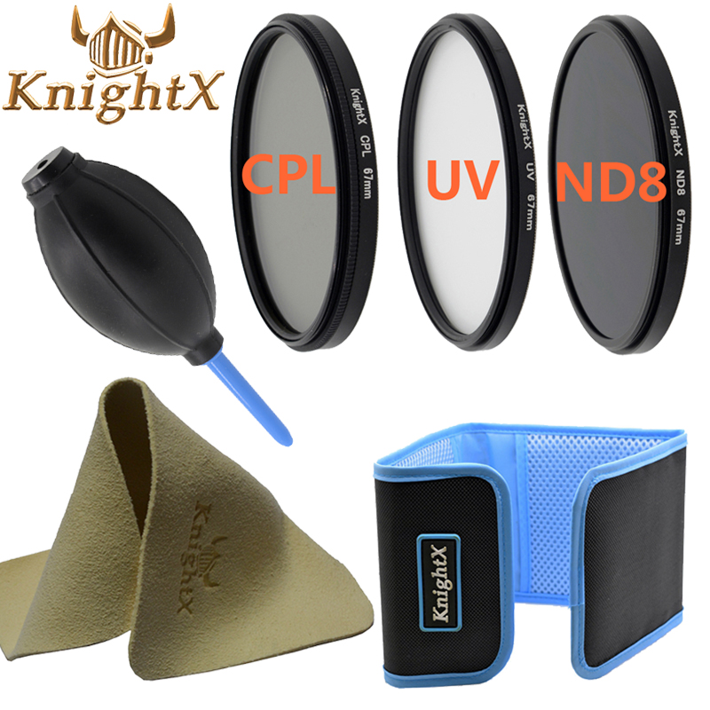 KnightX UV CPL FLD ND MC FILTER for for Nikon Canon EOS 7D 5D 6D 50D 60D 600D d5200 d3300 d3200 T5i 52MM 58MM 67MM 77MM 55MM 49
