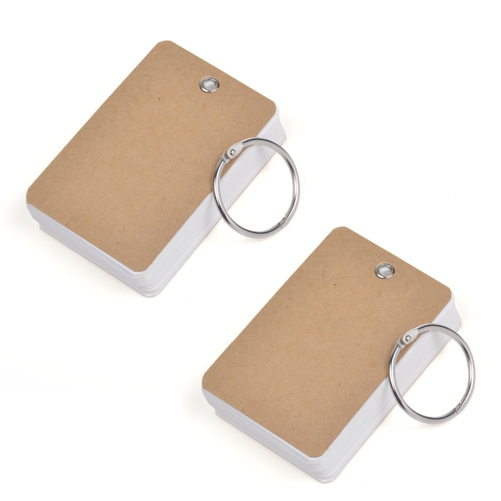 Pack Of 2 Binder Ring Easy Flip Flash Cards Study Cards
