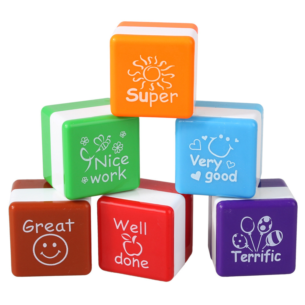 6pcs/set Teachers Stampers Self Inking Praise Reward Stamps Motivation Sticker School Cartoon Kids Stamp DIY Diary Carved Gift new arrival 6pcs teachers stamper self inking praise reward stamps motivation sticker school bi1s