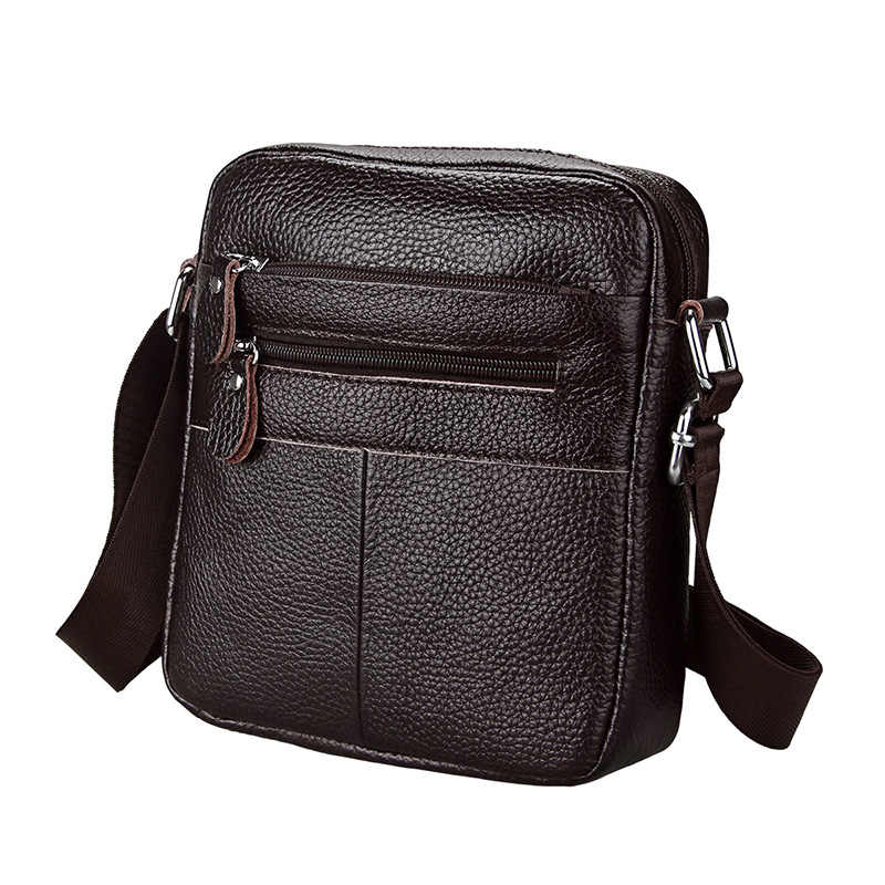 bc35f4a617 2018 Men s Messenger Bags Genuine Leather Men Bags Casual Travel Business  Small Crossbody Shoulder Bag for