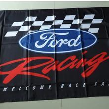 Ford racing флаг для автосалона, ford баннер, 3 Х 5 м размер, polyster