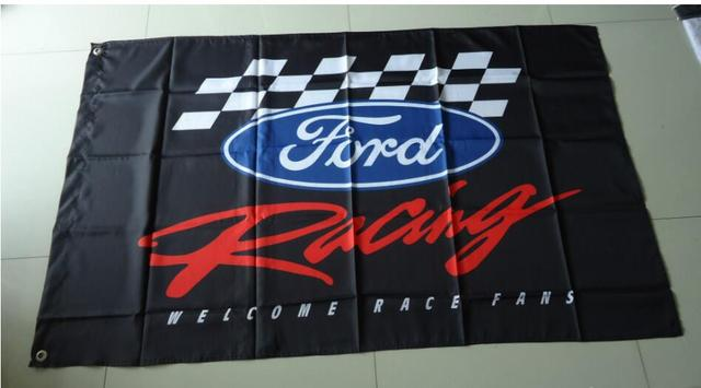 Ford Racing Flag For Car Show Ford BannerX Ft Size Polyster - Car show flags