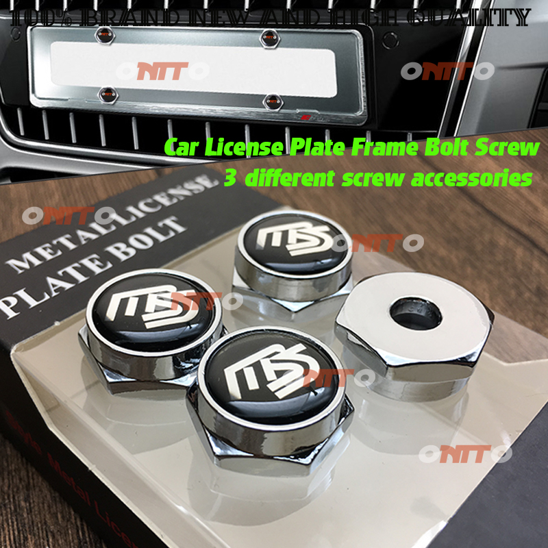 NEW 4X Car License Plate Frame Security Screw Bolt Caps Covers For GTI