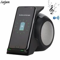 Qi Беспроводной Зарядное устройство с Bluetooth Динамик для HUAWEI Коврики RS телефон Беспроводной зарядка для Galaxy S9/S9 плюс Примечание 8/5 S8/S8 плюс