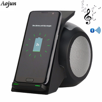 S8 Plus Fast Wireless Charger Qi Charging With Stereo Bluetooth Speaker Wireless Charging Stand For Samsung