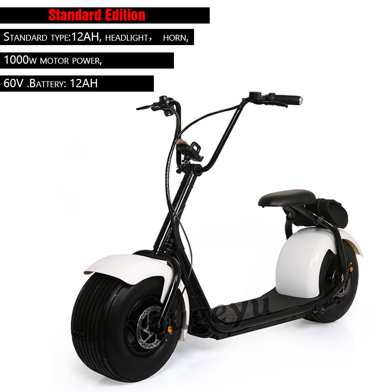 Harley Electric Scooter Motor Cycle Wide Tire Electric