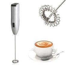 Автоматический Электрический миксер для молока из нержавеющей стали, портативный Миксер для кофе и молока