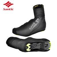 SANTIC Winter Cycling Shoes Cover Thermal Waterproof Fleece Road Bicycle Bike Shoes Cover Men Women Full