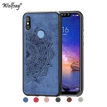 Xiaomi Redmi 6 Pro Shockproof Soft TPU Silicone Cloth Texture Hard PC Phone Case For Cover