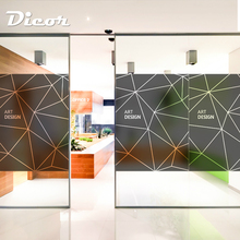 DICOR Stained Window Film For Office&meeting room Frosted Static Privacy Glass Company Decor BLT1485
