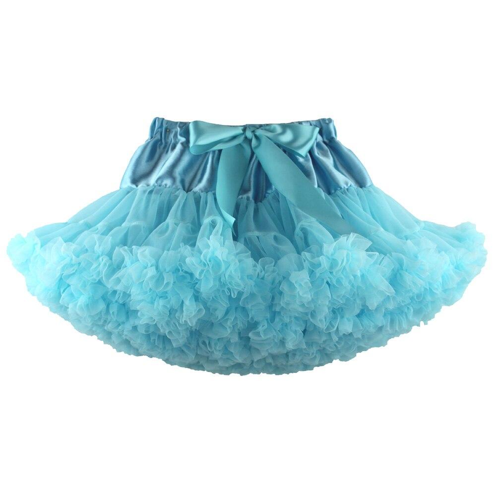 Детские Нижние юбки для девочек юбка-пачка Нижняя юбка для девочек девочки пачки, миниатюрные юбки шифоновая юбка воздушная юбка подростковая одежда для девочек - Цвет: light blue