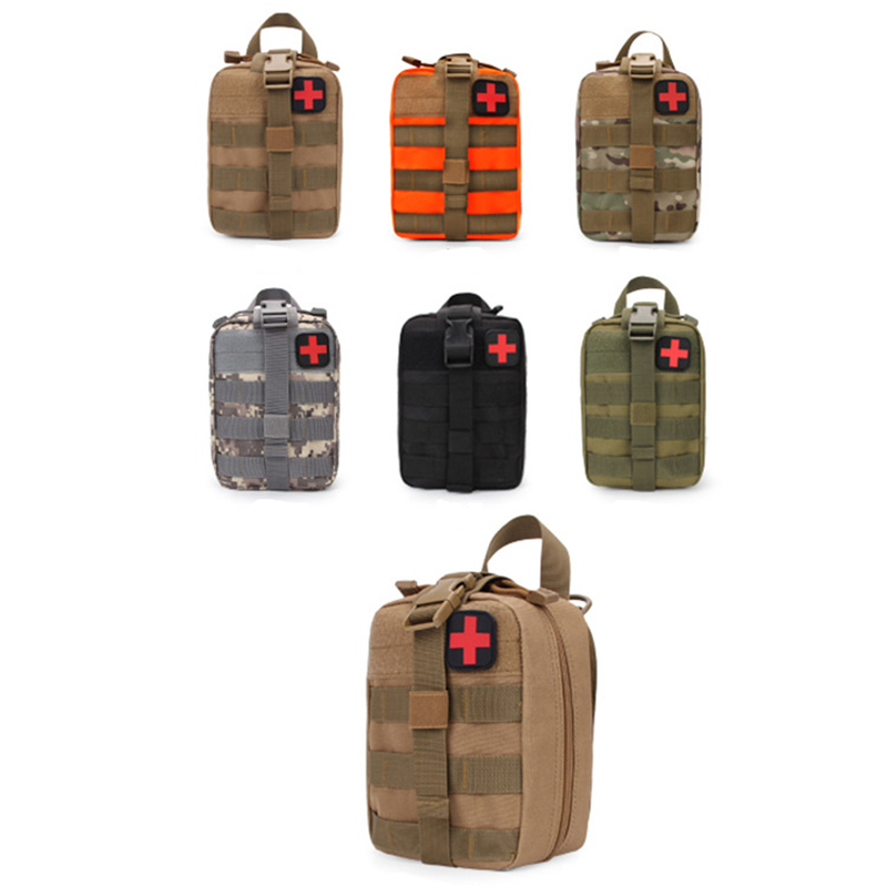 Outdoor Utility Tactical Survival Pouch Medical First Aid Kit Bag Molle Medical EMT Cover Emergency Military Hunting Package