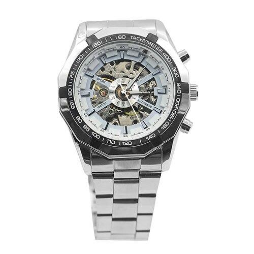 Gofuly 2020 Heren Horloges Rvs Mechanische Horloge Hand-Winding Skeleton Automatische En Sport Polshorloge Orologio Uomo 1