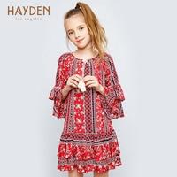 HAYDEN Girls Dresses Summer Long Sleeves 7 9 11 Years Costumes Children Kids Clothing Teenage Girls