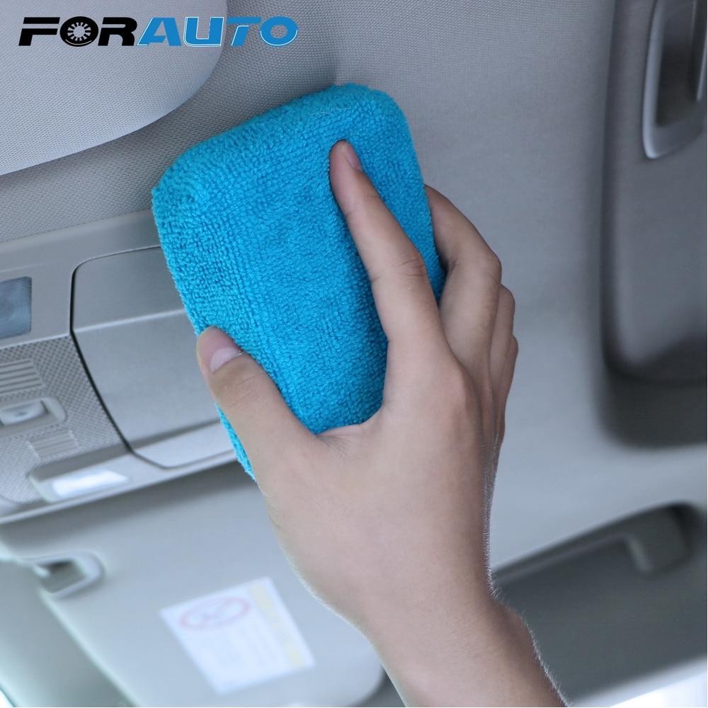 Car Care Cleaning Sponge Washing Tool Wax Polishing Pad Car Wash Sponge Microfiber Auto Accessories Auto Detailing Cleaner