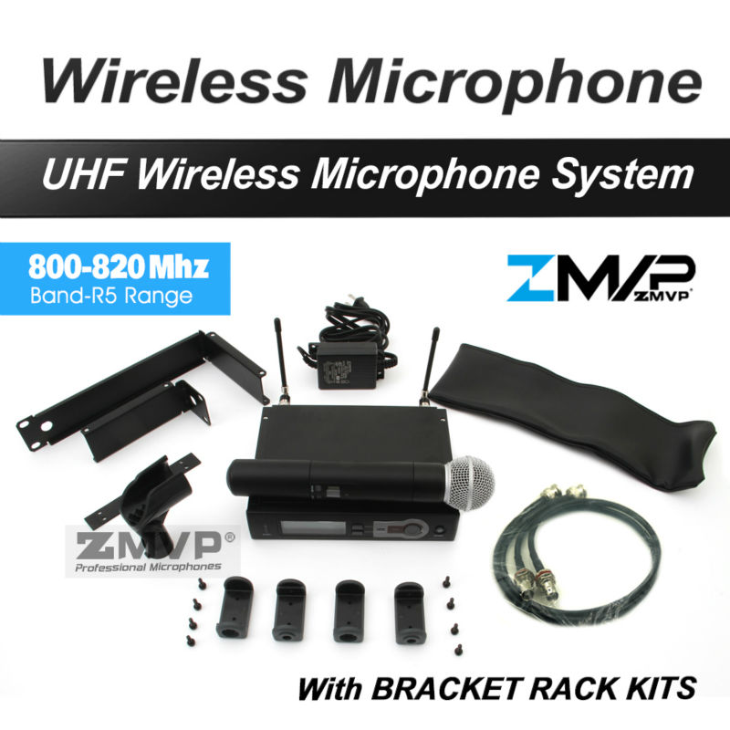 Free Shipping by DHL FEDEX EMS! SLX24 UHF Karaoke Wireless Microphone System with M58 Handheld Transmitter Mic Bracket Rack Kits free shipping uhf professional s24 b 58 wireless microphone cordless karaoke system with handheld transmitter band r5 800 820mhz