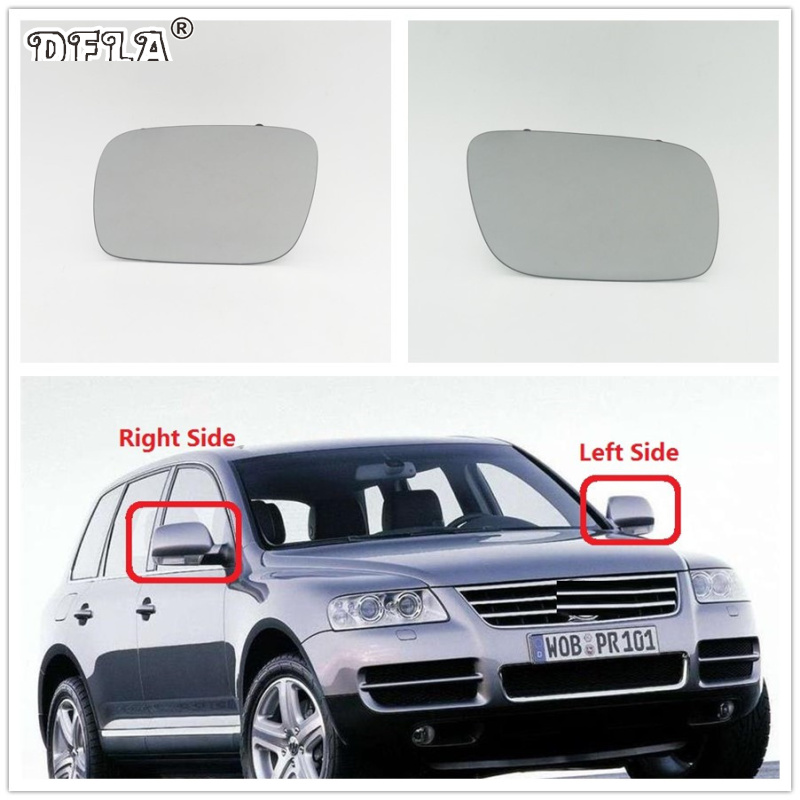 2pcs For VW Touareg 2003 2004 2005 2006 2007 Car styling Car Rear Door Mirror Glass With Heated