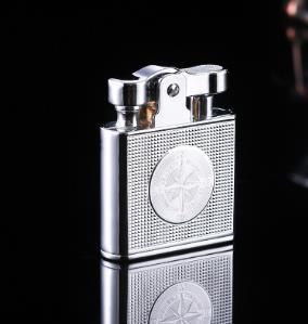 Creative Gadget Metal Carving Gasoline Kerosene Oil cigarette Windproof lighter men gift can put in cigarette case S62