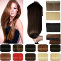 120 g - 200 g 27 pulgadas Clip en la cabeza completa Clip en extensiones de cabello 100% real natural humana pelo de una pieza recta extensiones de cabello